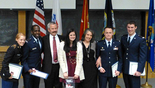 2013 Tri-Military Ceremony CU Boulder - Alex Gilmer Flight School Scholarship Recipients